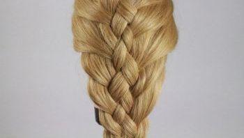 Плетение вовнутрь косы