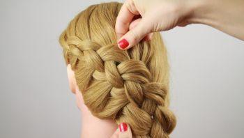 Плетение вывернутой косы пошагово видео