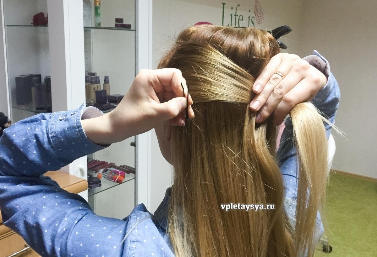 Фото причесок волосы наполовину