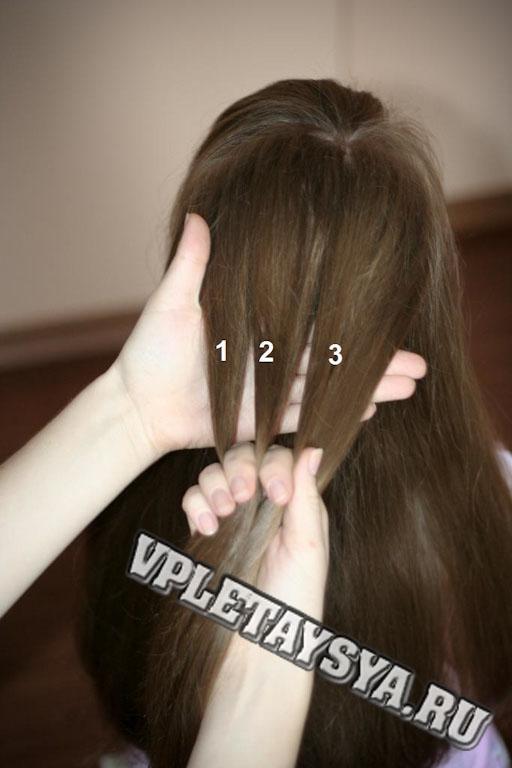 Полученную прядь волос