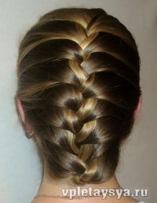 Подвернутая французская коса.