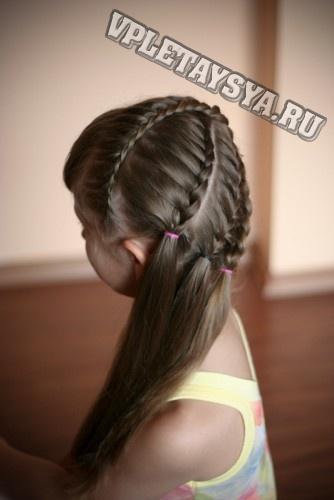 объемные французские косички | коса объемная