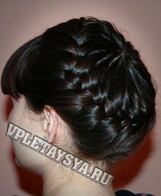 Плетение французских кос корзинкой