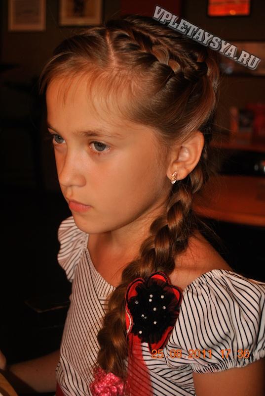 Прически из косичек для девочек